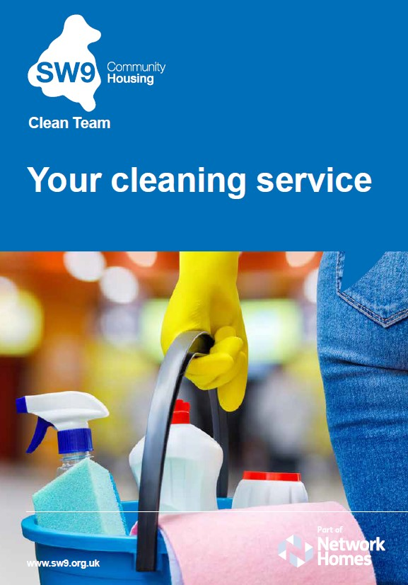 In-house Cleaning Leaflet Cover Image