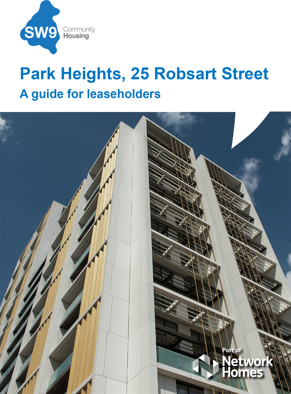 SW9 Park Heights Guide for Leaseholders front cover